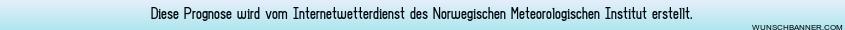 Prognose vom Meterologischem Institut Norwegens